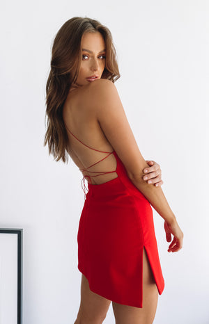 Delilah Mini Dress Red