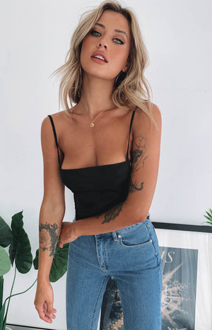 Amie Crop Black