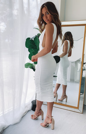 An Affair to Remember Midi Dress White