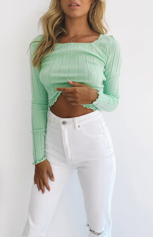 Archer Long Sleeve Top Lime