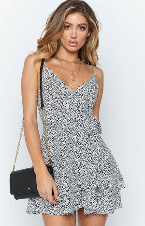 August Dress Black Polka
