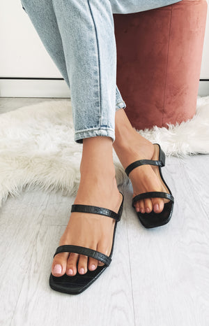 Therapy Beatrix Sandals Black Croc