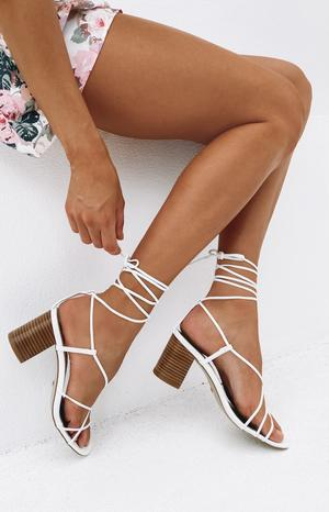 Billini Yalena Heels White/ Natural