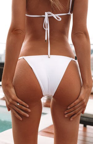 9.0 Swim Billy Frill Bikini Bottoms White