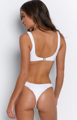 9.0 Swim Caprera Bikini Bottoms White Ribbed