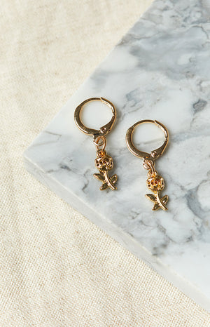 Eclat Hopeless Romantic Earrings Gold