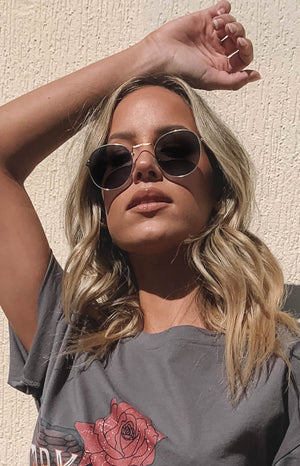 Eclat Hailey Sunglasses Grey Gold (FREE over $180)