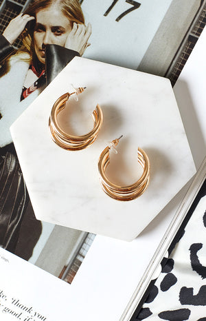 Eclat Irresistible Hoop Earrings Gold