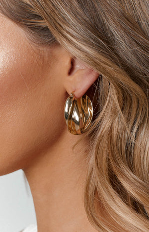 Eclat Keaton Hoop Earrings Gold