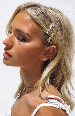Eclat Paradise Hair Clips Gold