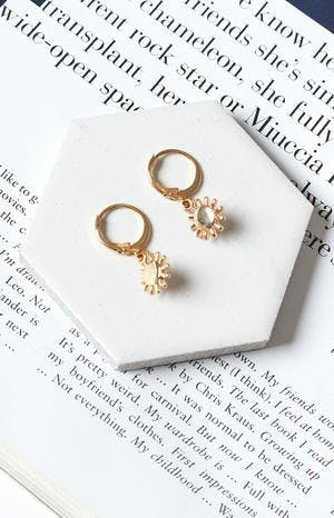 Eclat Voyager Sun Earrings Gold