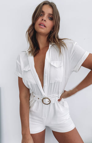 Evoke Playsuit White