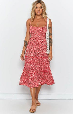 Georgi Dress Red Floral