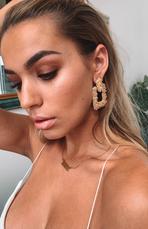 Eclat Bronte Earrings Gold (FREE Over $150)