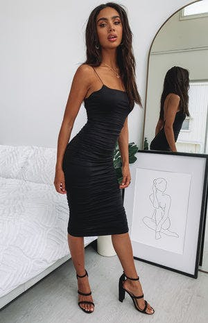 https://files.beginningboutique.com.au/I'm+All+In+Ruched+Midi+Party+Dress+Black.mp4