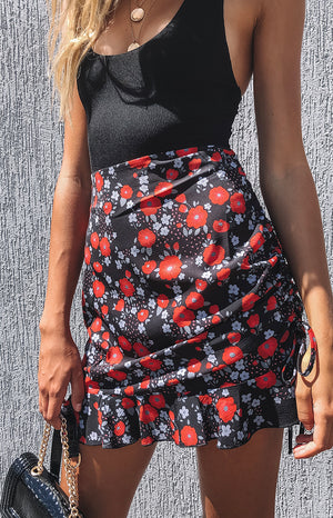 Love Me Better Skirt Red Poppy