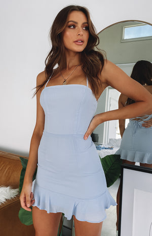 Love Lives Dress Pastel Blue