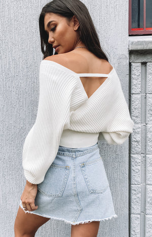 Maxine Knit Top White