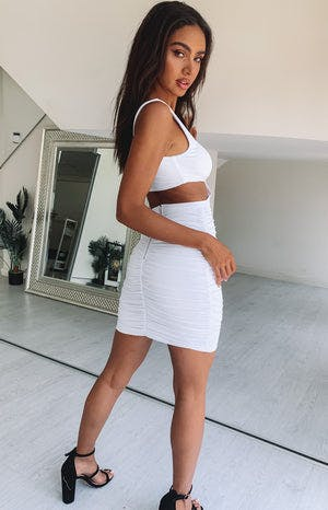 Out and Play Mini Party Dress White