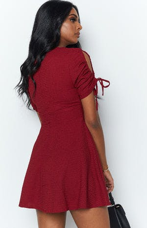 Saralee Dress Burgundy