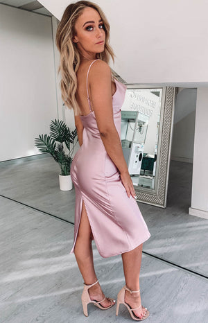 Schiffer Slip Midi Dress Blush