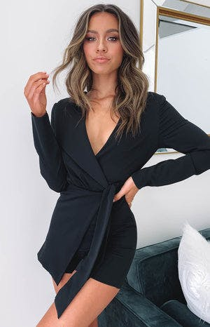 So Into You Party Playsuit Black