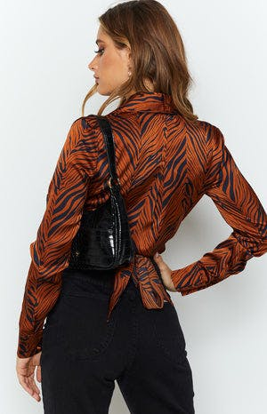 Tuscan Sun Blouse Bronze Tiger