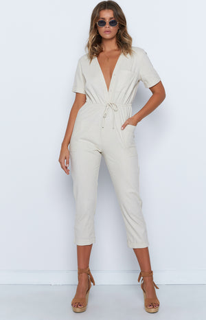 Virgo Jumpsuit Beige