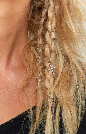 Eclat Certainty Cross Hair Ring Silver