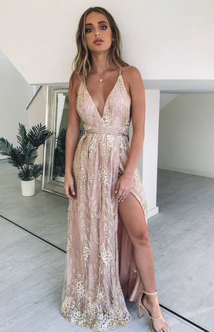 Madeline Formal Dress Rose Gold