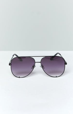 Eclat High Shine Sunglasses Black Grey