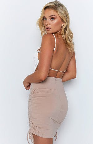 Sweet Talker Skirt Tan