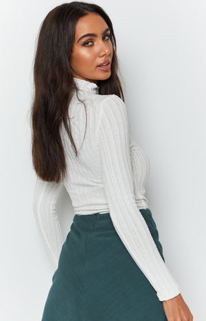Trudy Long Sleeve Knit White